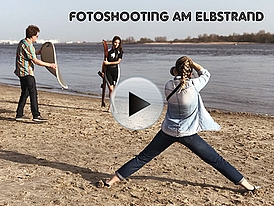 Fotoshooting am Elbstrand