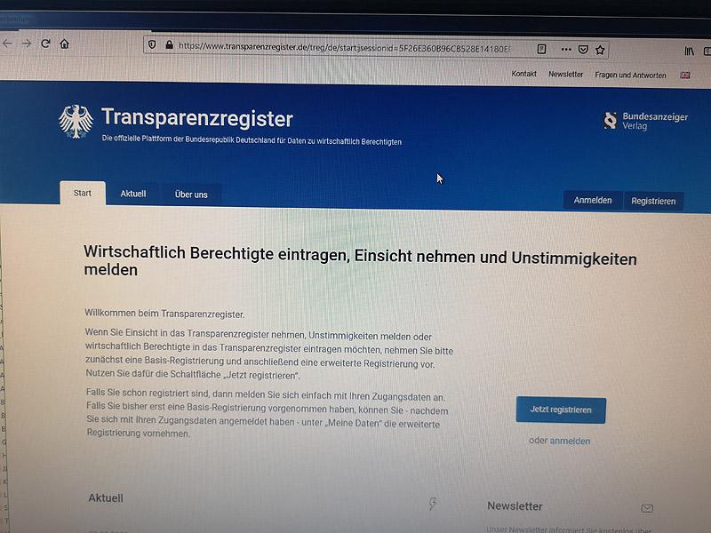 bundesanzeiger transparenzregister